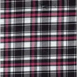 NGCHECKER-R-FLAT Indigo Yarn Dyed Checks Fabric