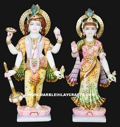 Marble Laxmi Vishnu Idols