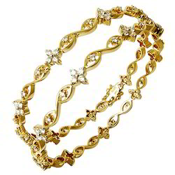 Gold Diamond Bangles for Women
