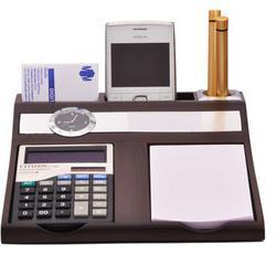 Table Clock Pen Stand View Specifications Details Of Table Clock