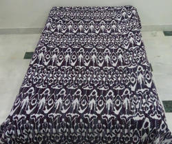 Kantha Gudri Indian Handmade Ikat Twin Throw Bed Cover