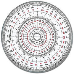 Angle protractor suppliers manufacturers traders in india for Circular protractor template