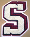 3D  Letter Chenille Patch