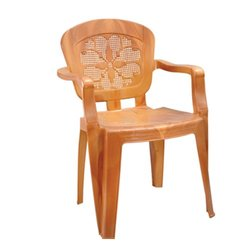 Light Brown Plastic High Back Chair