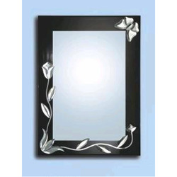 Silver Glass Bathroom Mirror