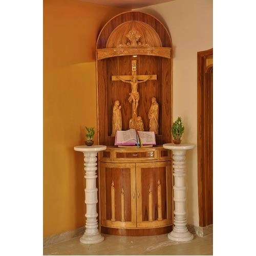 Wooden And Fiber House Altar Lakdi Ki Hastkala Roque Renold