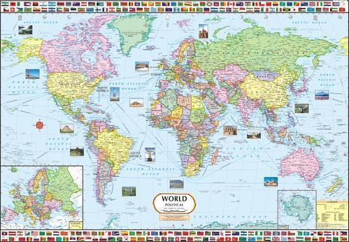 World map political at rs 100 piece world map id 7570800048 world map political gumiabroncs Image collections