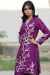 Ladies Raw Silk Suit