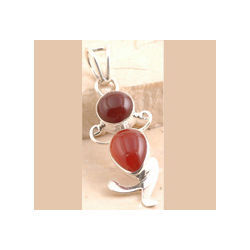 Red Onyx Pendent Set