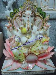 Religious Ganesh Ji Marble Statue
