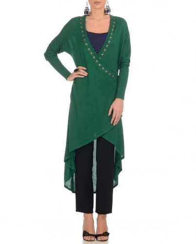 d694627f8a5 Tunic - Appliqued Cobalt Blue Tunic with Asymmetric Hem Exporter from Jaipur