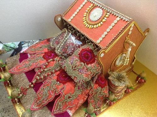 Engagement decorative packaging wedding lehenga packing wedding doli lehenga packing junglespirit Images