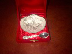 Silver Plated Bowl with Spoon