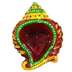 Decorative Hand Painted Terracotta Diya
