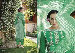 Green Cotton Salwar Kameez