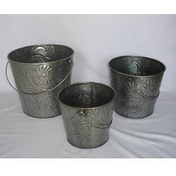 Galvanized Decorative Buckets
