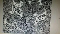 Black O White Print Fabric