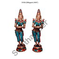 Brass Statue Welcome Lady Deep Laxmi Statue