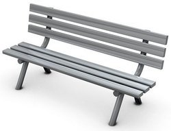 Lawn Bench Simple Model In Grey Shade