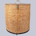 Half Round Wicker Storage Basket