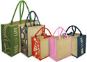 Multicolor Jute Promotional Bag