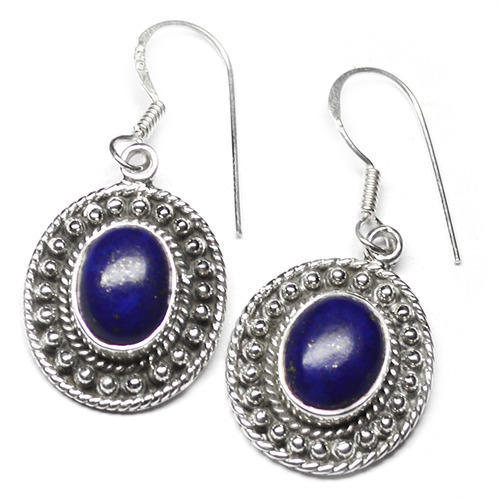 4.8 GM Lapis Gemstone 925 Sterling Original Silver Earring