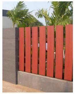 Fibre Cement Wood Grain Fence