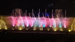 Musical Fountain Pyramid with Vertical Effects