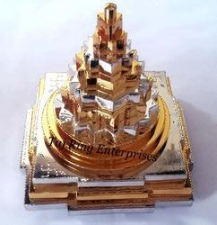 Gold And Silver Maha Meru Shree Yantra