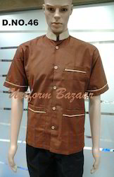 Brown Colour Restaurant Uniform