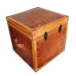 Leather Courier Trunk