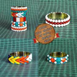Hot and Vibrant New Design Bracelet Cuff Multi Color Beads
