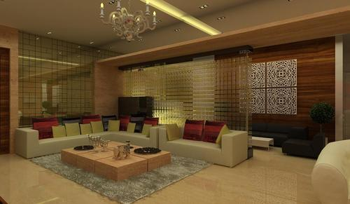 Classic Living Room Interior Design in Kandivali West, Mumbai, Art ...