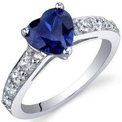 Sapphire Heart Shape Ring