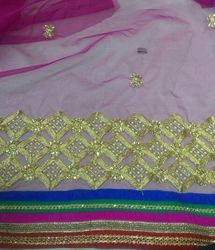 Net Embroidered Fabric