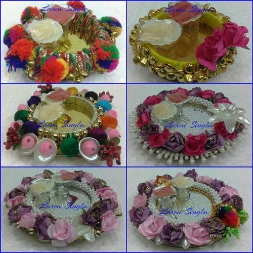 Decoration pooja thali at rs 380 pieces pooja thali id decoration pooja thali junglespirit Image collections