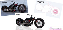 Bike Image Clipping Path Services