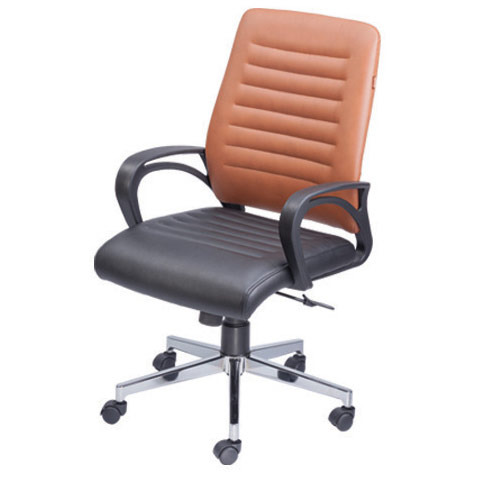 Decorous Brown And Black Fabric Office Chair, Rs 1300 /piece | ID ...