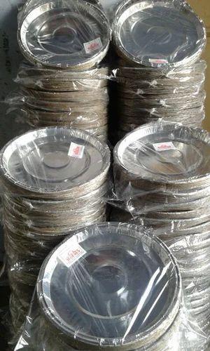 Round Silver Paper Plate & Round Silver Paper Plate Chandi Ki Panni Wali Kagaz Ki Plate ...