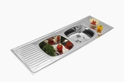 Double Bowl Double Drain Kitchen Sink