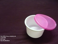 240ml Plastic Fancy Food Cont Set