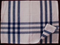 Cotton Check Striped Kitchen Towels, For Hotels, Restaurants, Wash Type: Hand Wash