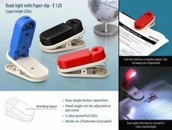 E120 - Book Light with Paper Clip