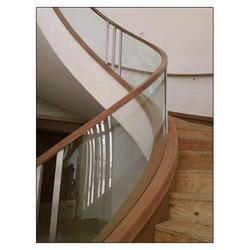 Staircase Curved Glass