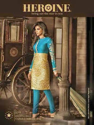 Silk Zari Anarkali Suits
