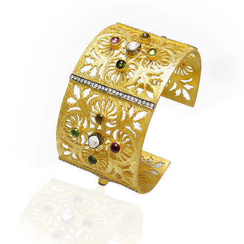 Indian Fashion Designer Filigree Cuff Bangle