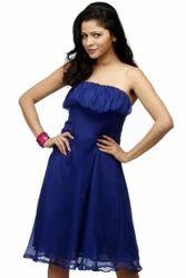 Royal Blue Chiffon Evening Dress