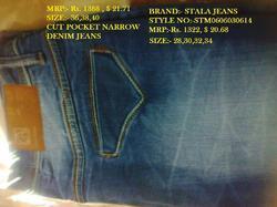 Cross Cut Pocket Narrow Jeans