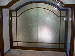 Etched Window Glass