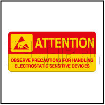 420032 Precautions Stickers for Electrostatic Device